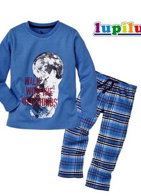 Пижама домашний костюм детский для мальчика  lupilu