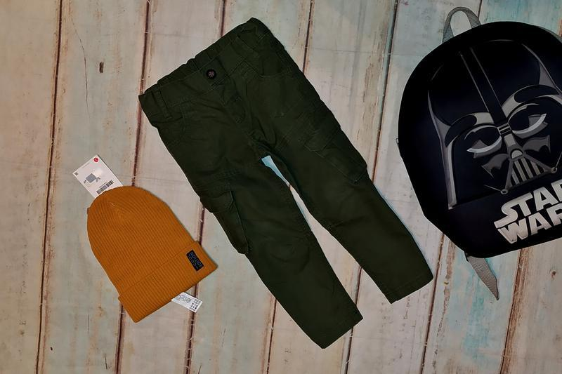 Штаны ,брюки карго m&s на 2-3 года