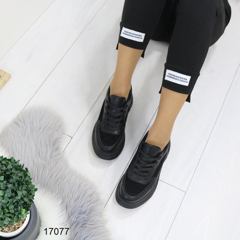 Кроссовки женские чёрные - Фото 3