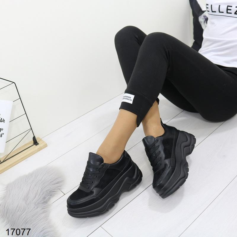 Кроссовки женские чёрные - Фото 4