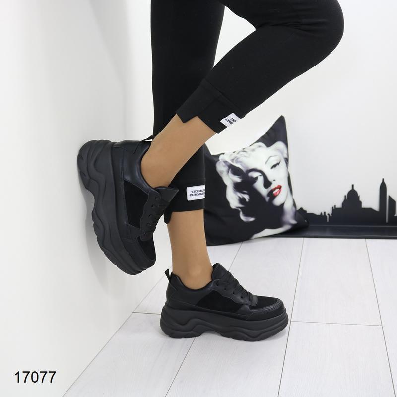 Кроссовки женские чёрные - Фото 6