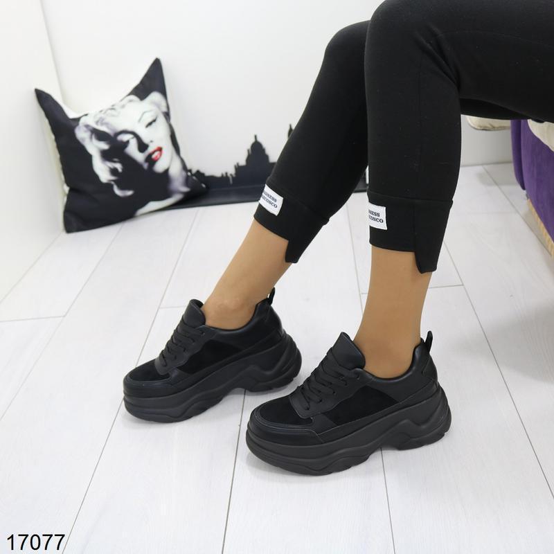 Кроссовки женские чёрные - Фото 7
