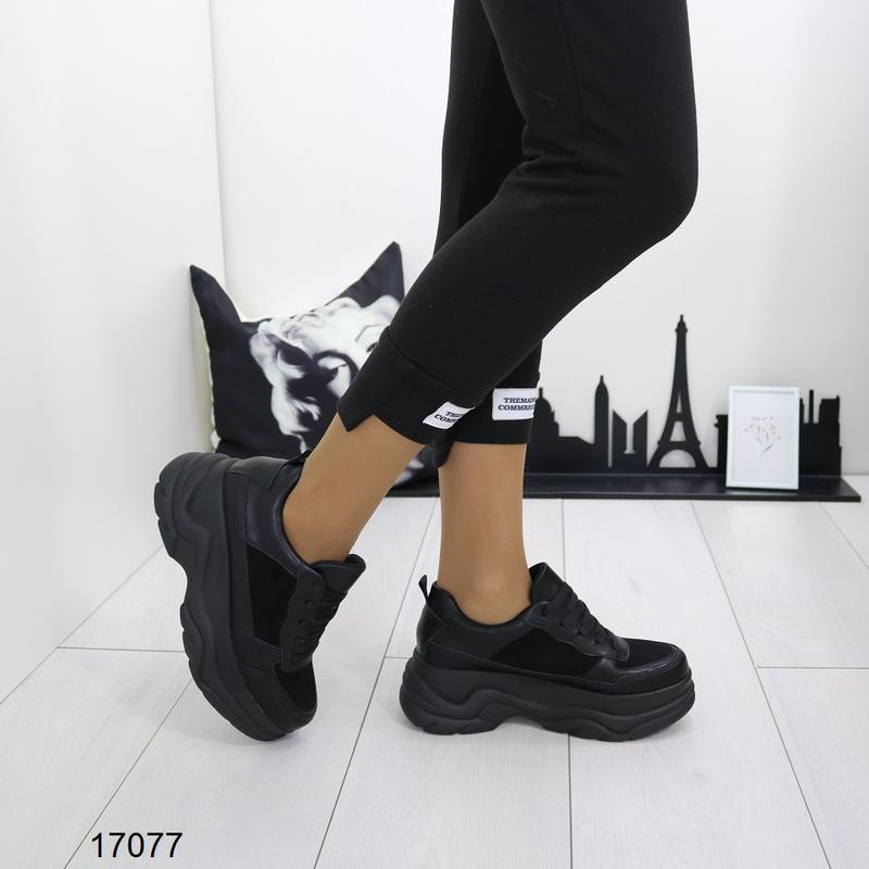 Кроссовки женские чёрные - Фото 8