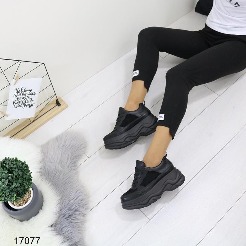 Кроссовки женские чёрные - Фото 9