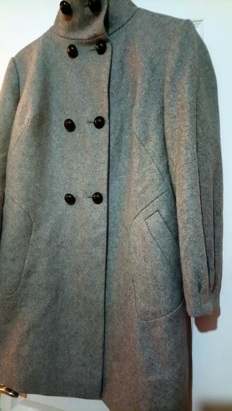 Шерстяное пальто. - Фото 4