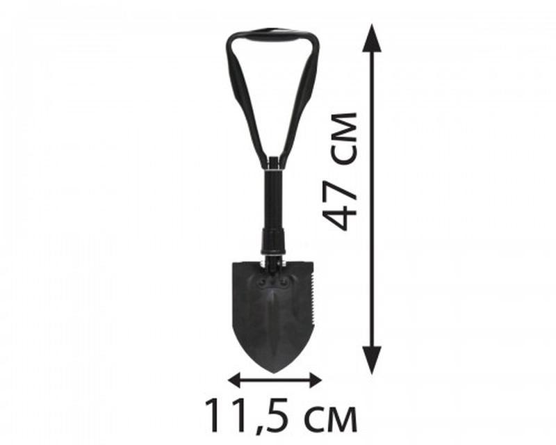 Лопата туристическая складная LA 250604