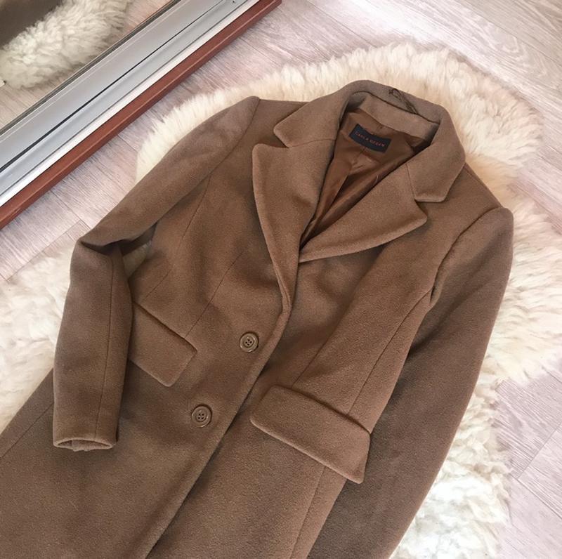 237 трендовое шерстяное пальто carla degen - Фото 2