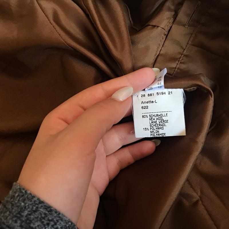 237 трендовое шерстяное пальто carla degen - Фото 3
