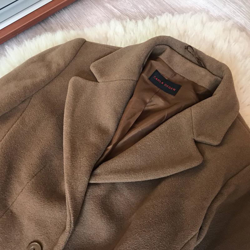 237 трендовое шерстяное пальто carla degen - Фото 5