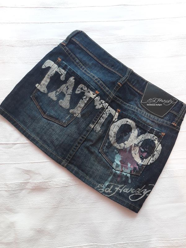 Ed hardy, оригинал! брендовая джинсовая юбка#юбочка#спідниця, ... - Фото 3