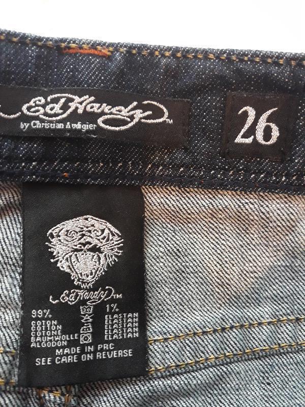 Ed hardy, оригинал! брендовая джинсовая юбка#юбочка#спідниця, ... - Фото 4