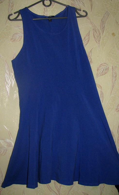 Короткое платье насыщенного синего цвета. - Фото 3