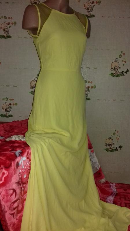 Желтое, вечернее, нарядное платье. maxi, длинное. clara story
