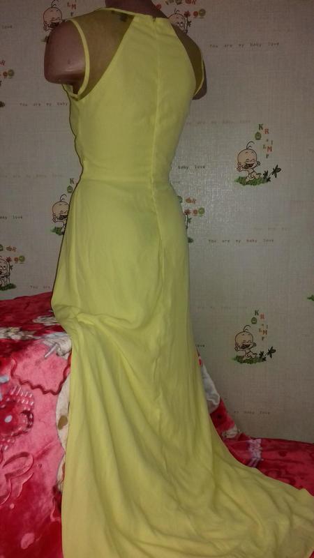 Желтое, вечернее, нарядное платье. maxi, длинное. clara story - Фото 2
