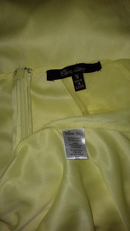 Желтое, вечернее, нарядное платье. maxi, длинное. clara story - Фото 5