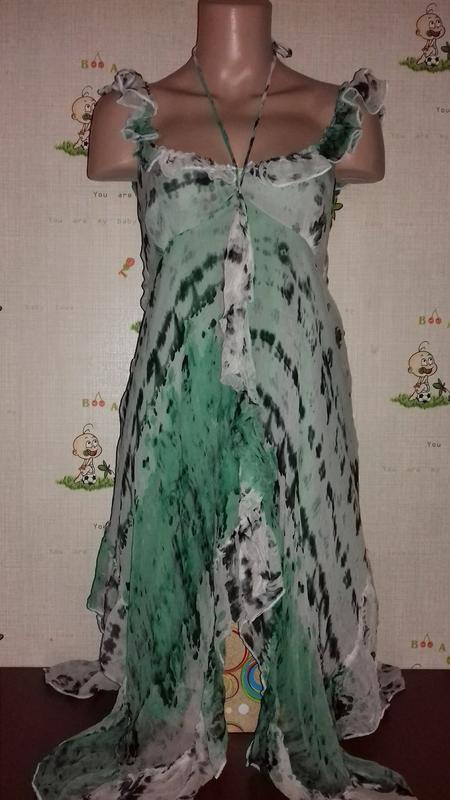 Шелковое платье туника, шелк
