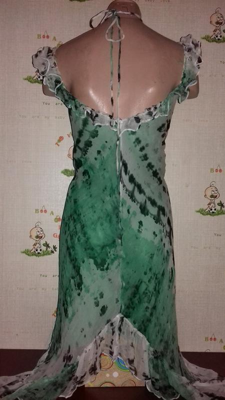 Шелковое платье туника, шелк - Фото 2