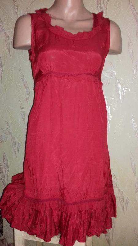 Красное платье вискоза.