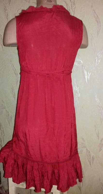 Красное платье вискоза. - Фото 2