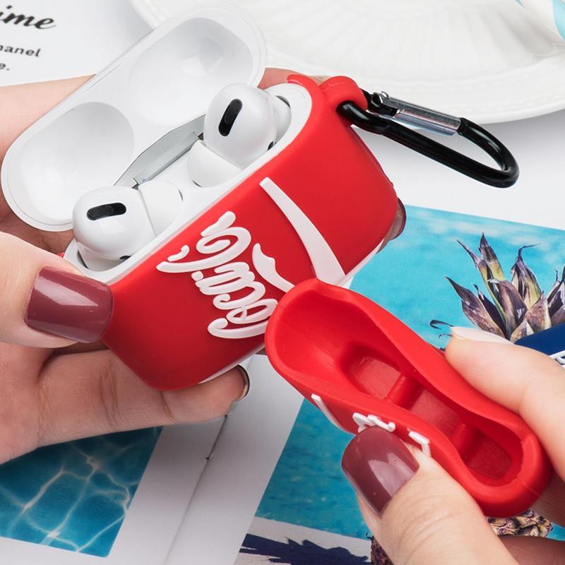 Силиконовый футляр Can для наушников AirPods Pro + карабин - Фото 4