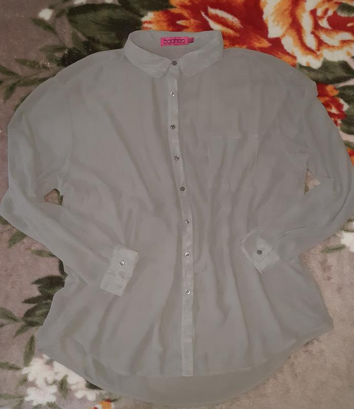 Рубашка, блузка серая plus size
