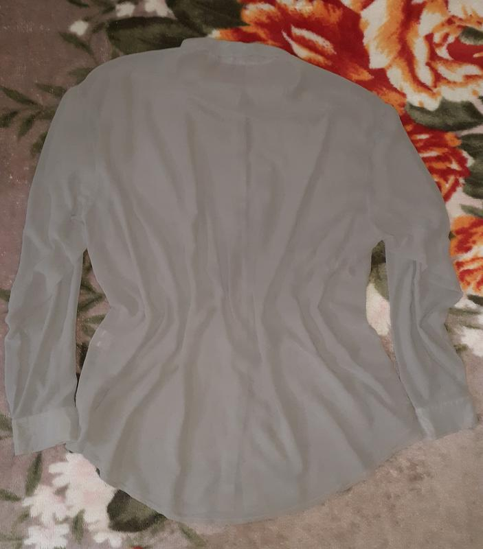 Рубашка, блузка серая plus size - Фото 2