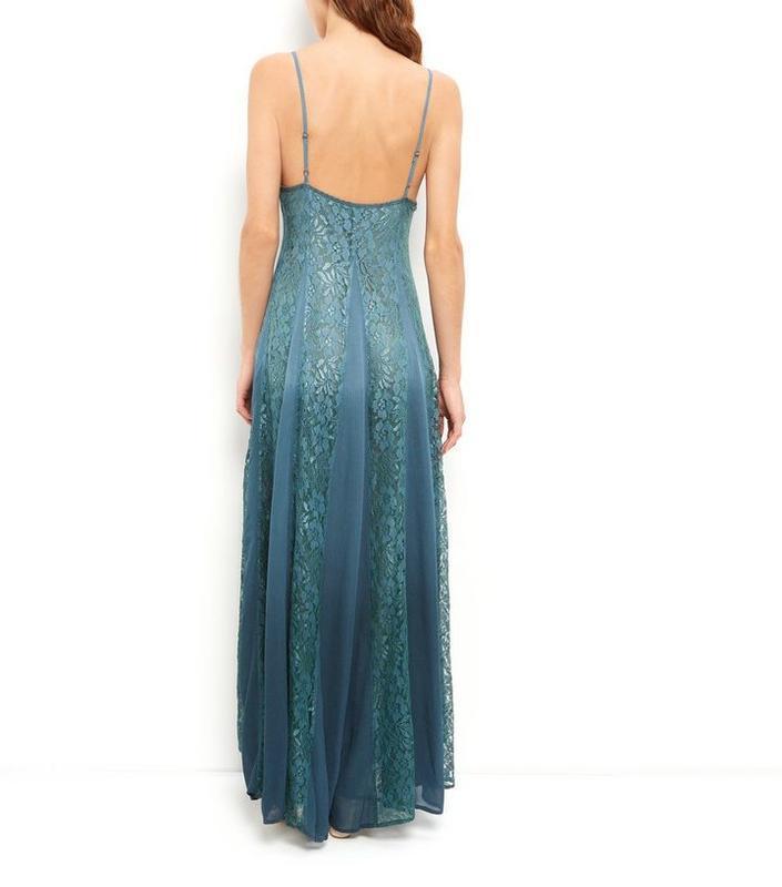 Платье с кружевом длинное, а силуэт. - Фото 2