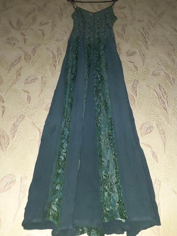 Платье с кружевом длинное, а силуэт. - Фото 3