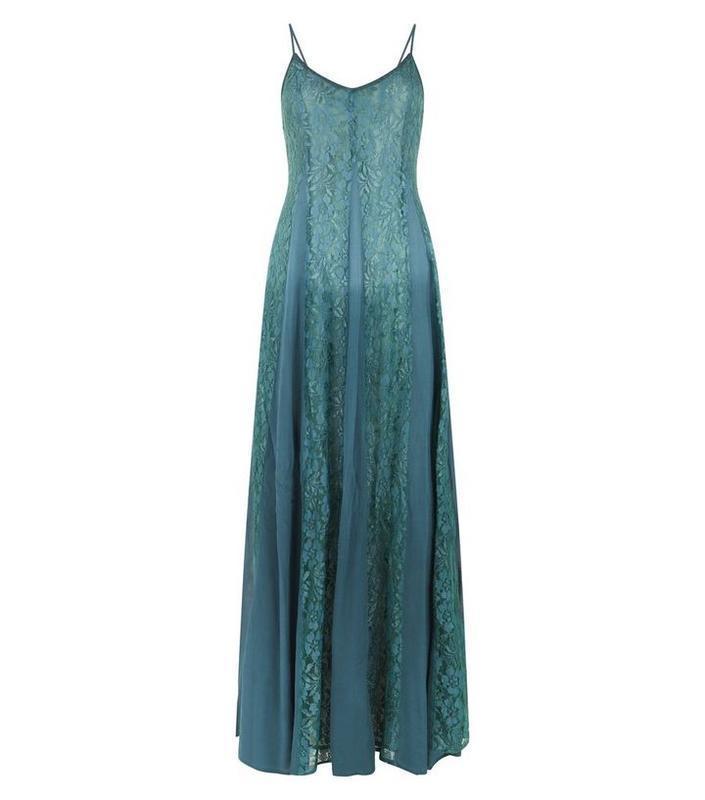 Платье с кружевом длинное, а силуэт. - Фото 7