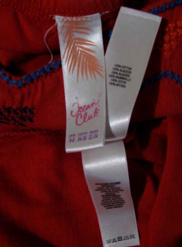 Красное платье с красивым орнаментом на лифе. - Фото 3