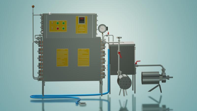 Пастеризатор молока под сепаратор и сыр 1 т/ч УЗМ-1,0
