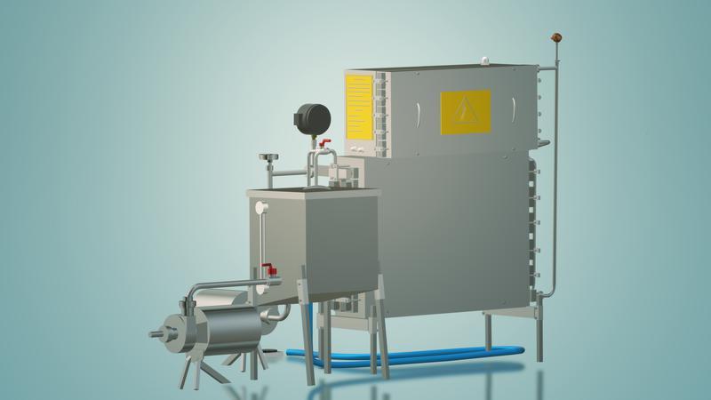 Пастеризатор молока под сепаратор и сыр 1 т/ч УЗМ-1,0 - Фото 4