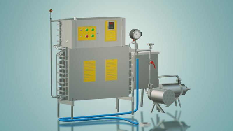 Пастеризатор молока под сепаратор и сыр 1 т/ч УЗМ-1,0 - Фото 2