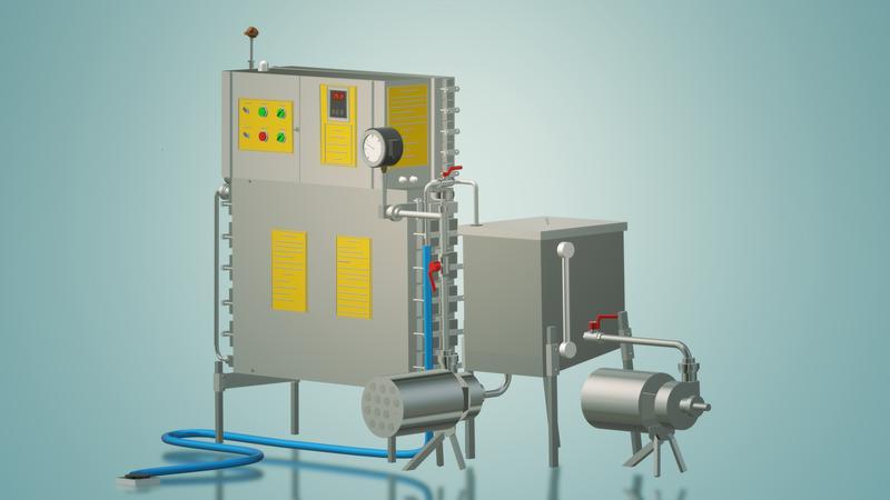 Пастеризатор молока под сепаратор и сыр 1 т/ч УЗМ-1,0 - Фото 3