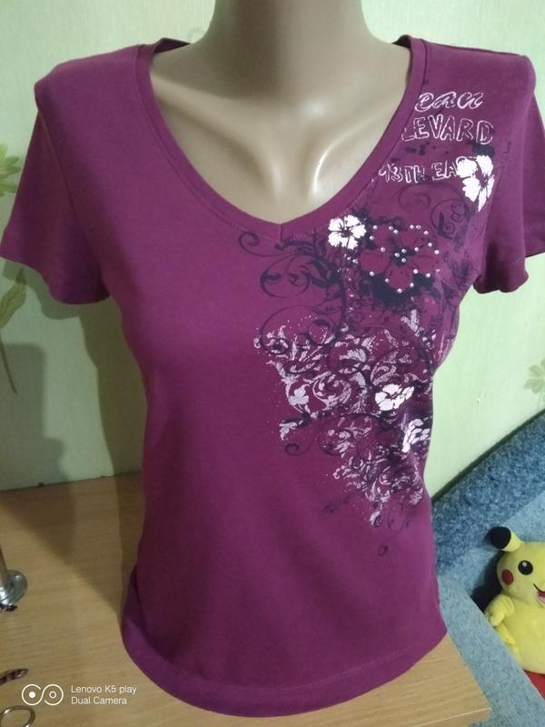 Уютная натуральная футболка xs-s-ка от s.oliver