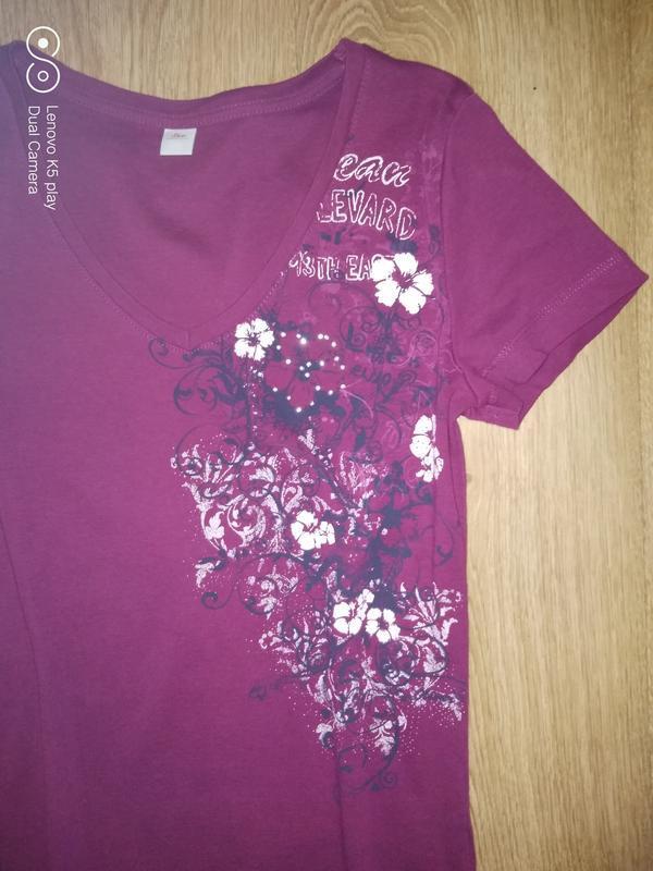 Уютная натуральная футболка xs-s-ка от s.oliver - Фото 5