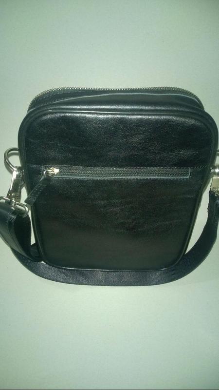 Новая сумка с телячьей кожи тол. 2,5 мм , чёрная . - Фото 2