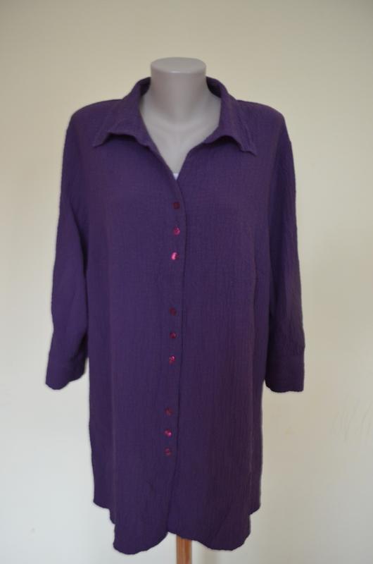 Очень красивая брендовая блузочка жатка большого размера длинн...
