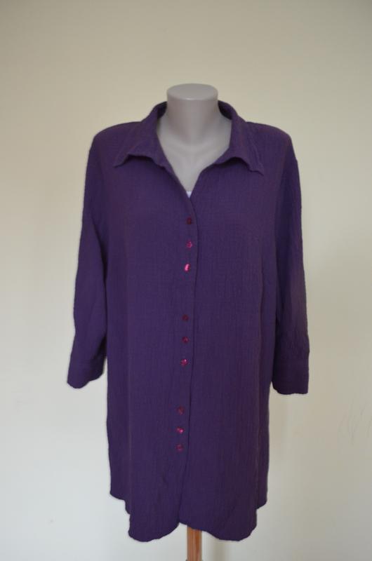 Очень красивая брендовая блузочка жатка большого размера длинн... - Фото 2