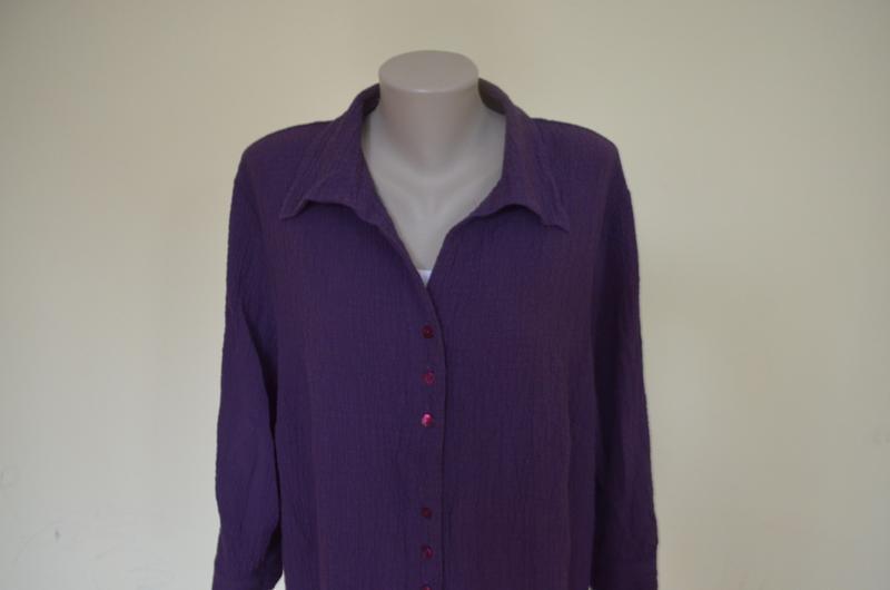 Очень красивая брендовая блузочка жатка большого размера длинн... - Фото 3
