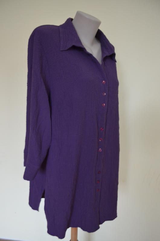 Очень красивая брендовая блузочка жатка большого размера длинн... - Фото 4