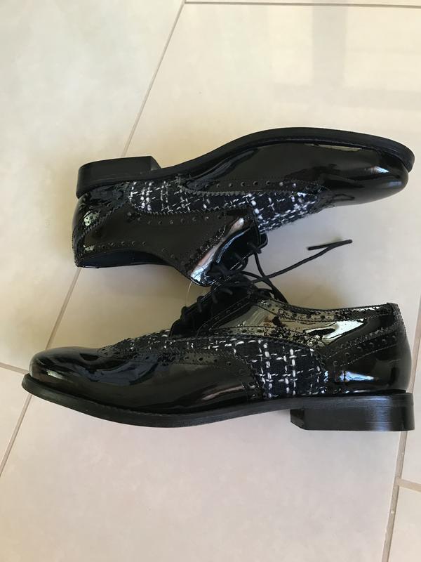 Туфли лоферы кожаные стильный модный дорогой бренд cosmoparis ... - Фото 5