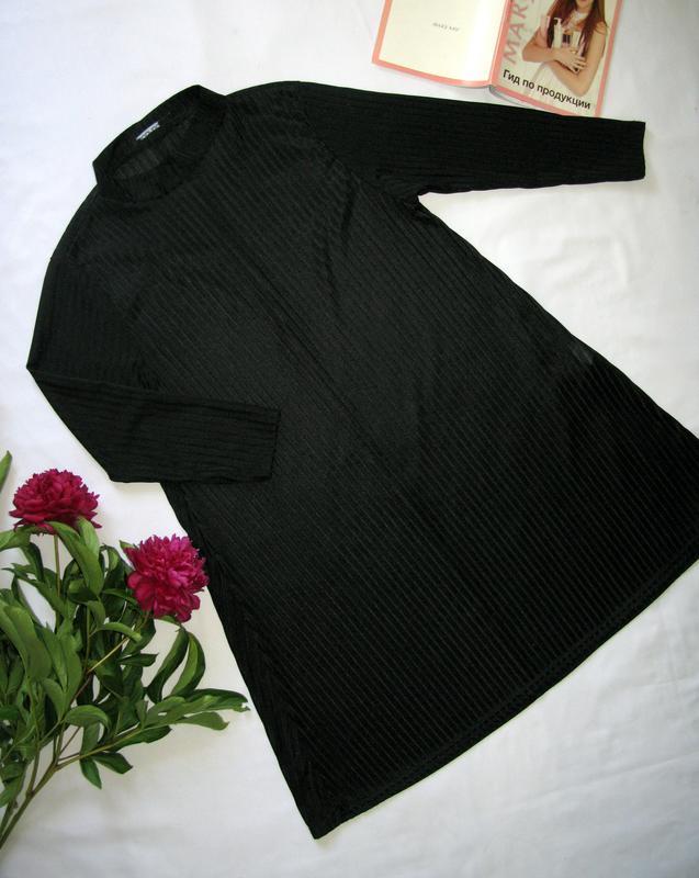 Стильная черная туника oversize от boohoo размер s