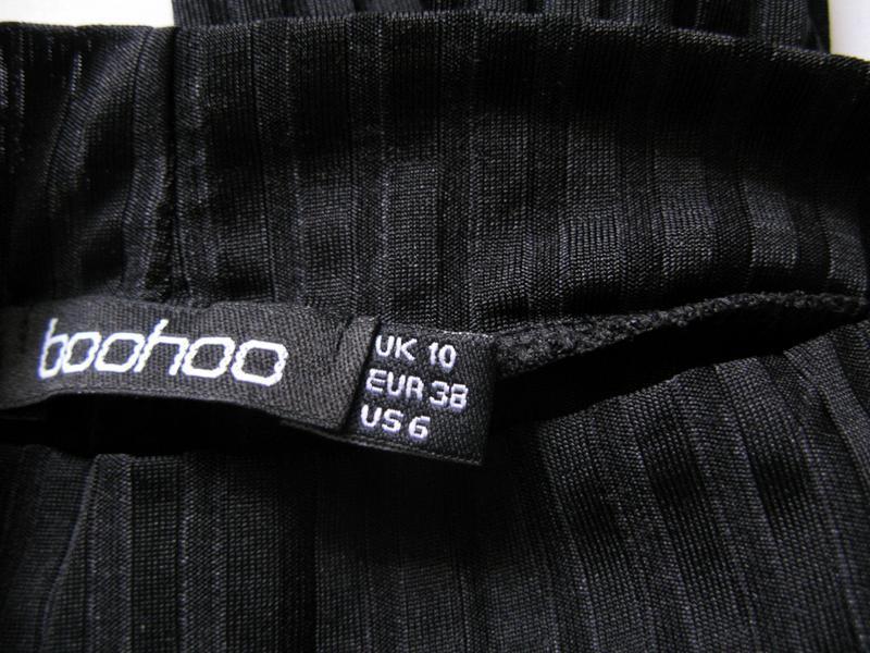 Стильная черная туника oversize от boohoo размер s - Фото 2