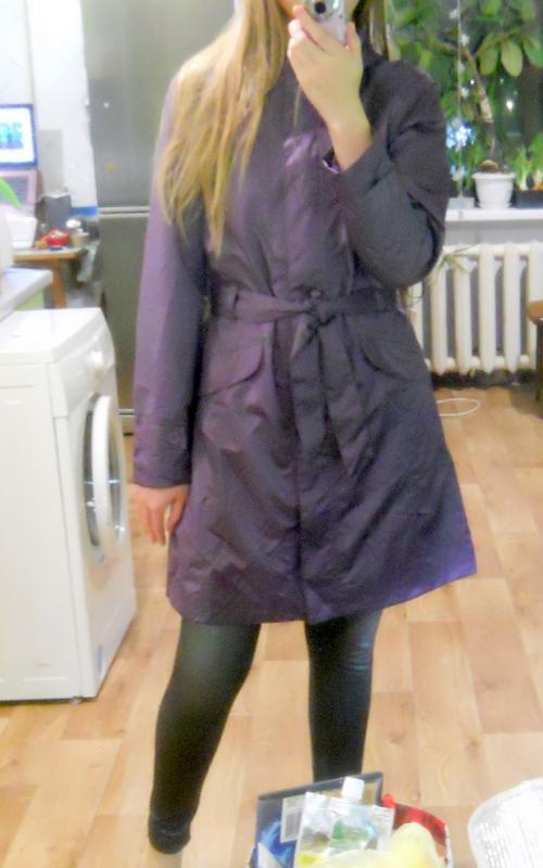 Стильный непромокаемый дождевик куртка плащ на весну/осень раз...