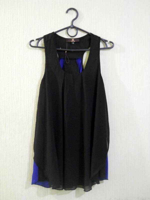 Классный черный синий топ майка можно беременным размер s-м - Фото 6