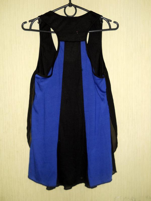 Классный черный синий топ майка можно беременным размер s-м - Фото 7