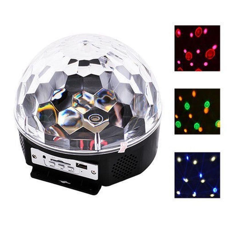 Музыкальный диско-шар с Bluetooth, USB, светомузыкой, 2-я динамик - Фото 2