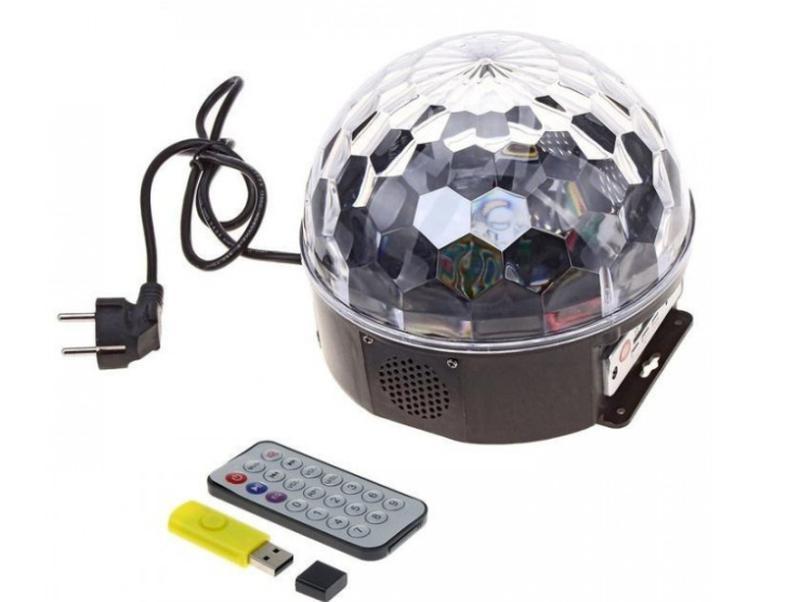 Музыкальный диско-шар с Bluetooth, USB, светомузыкой, 2-я динамик - Фото 3