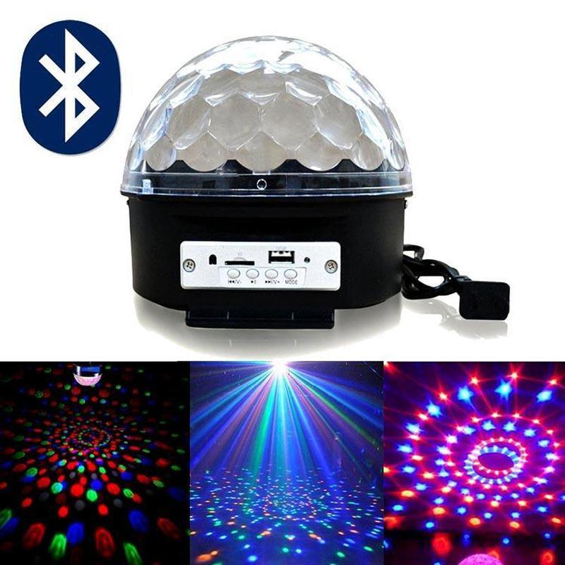 Музыкальный диско-шар с Bluetooth, USB, светомузыкой, 2-я динамик - Фото 4